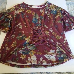 NWOT Floral Print Top
